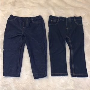 18 Months (2) Pairs of Skinny Jeggings